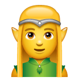Man Elf Emoji on WhatsApp