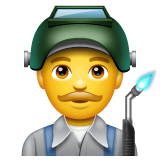 Man Factory Worker Emoji on WhatsApp