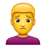 Man Frowning Emoji on WhatsApp