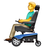 Man In Motorized Wheelchair Emoji on WhatsApp