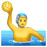 Man Playing Water Polo Emoji on WhatsApp