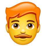 Man: Red Hair Emoji on WhatsApp