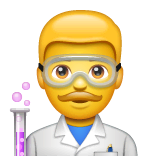 Man Scientist Emoji on WhatsApp