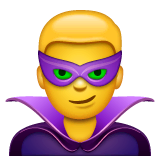 Man Supervillain Emoji on WhatsApp