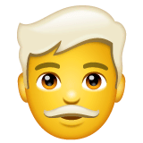 Man: White Hair Emoji on WhatsApp