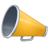 Megaphone Emoji on WhatsApp
