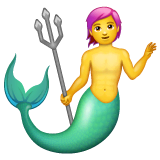 Merman Emoji on WhatsApp