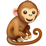 Monkey Emoji on WhatsApp