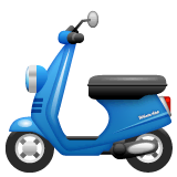 Motor Scooter Emoji on WhatsApp