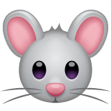Mouse Face Emoji on WhatsApp