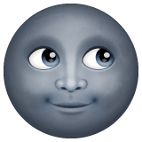 New Moon Face Emoji on WhatsApp