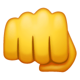 Oncoming Fist Emoji on WhatsApp