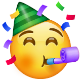 Partying Face Emoji on WhatsApp