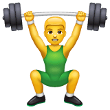 Person Lifting Weights Emoji on WhatsApp