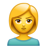 Person Pouting Emoji on WhatsApp