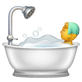 Person in Badewanne Emoji WhatsApp