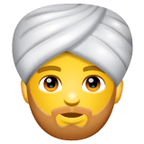 Person mit Turban Emoji WhatsApp