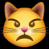 Cara de gato furioso Emoji WhatsApp