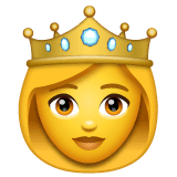 Princess Emoji on WhatsApp