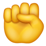 Raised Fist Emoji on WhatsApp