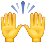 Raising Hands Emoji on WhatsApp