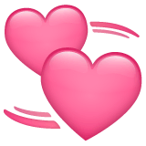Revolving Hearts Emoji on WhatsApp