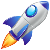 Rocket Emoji on WhatsApp