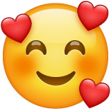 Smiling Face With Hearts Emoji on WhatsApp