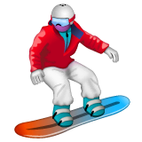 Snowboarder Emoji on WhatsApp