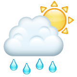 Sun Behind Rain Cloud Emoji on WhatsApp