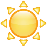 Sun Emoji on WhatsApp