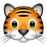 Tiger Face Emoji on WhatsApp