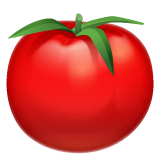 Tomato Emoji on WhatsApp