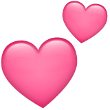 Two Hearts Emoji on WhatsApp