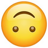 Upside-Down Face Emoji on WhatsApp