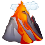 Volcano Emoji on WhatsApp