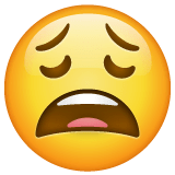 Weary Face Emoji on WhatsApp