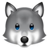 Wolf Emoji on WhatsApp