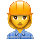 Woman Construction Worker Emoji on WhatsApp