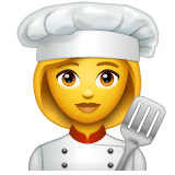 Woman Cook Emoji on WhatsApp
