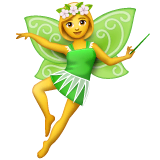 Woman Fairy Emoji on WhatsApp