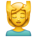 Woman Getting Massage Emoji on WhatsApp
