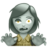 Woman Zombie Emoji on WhatsApp