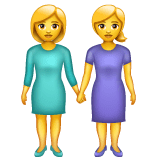 Women Holding Hands Emoji on WhatsApp